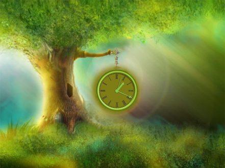 De diáfanos orates, en mundo Inopia Magic-tree-clock
